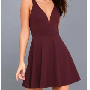 Love Galore Plum Purple Skater Dress